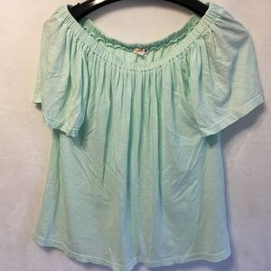 Sundry Size 0 (XS) Mint Green (Bluish) Knit Top